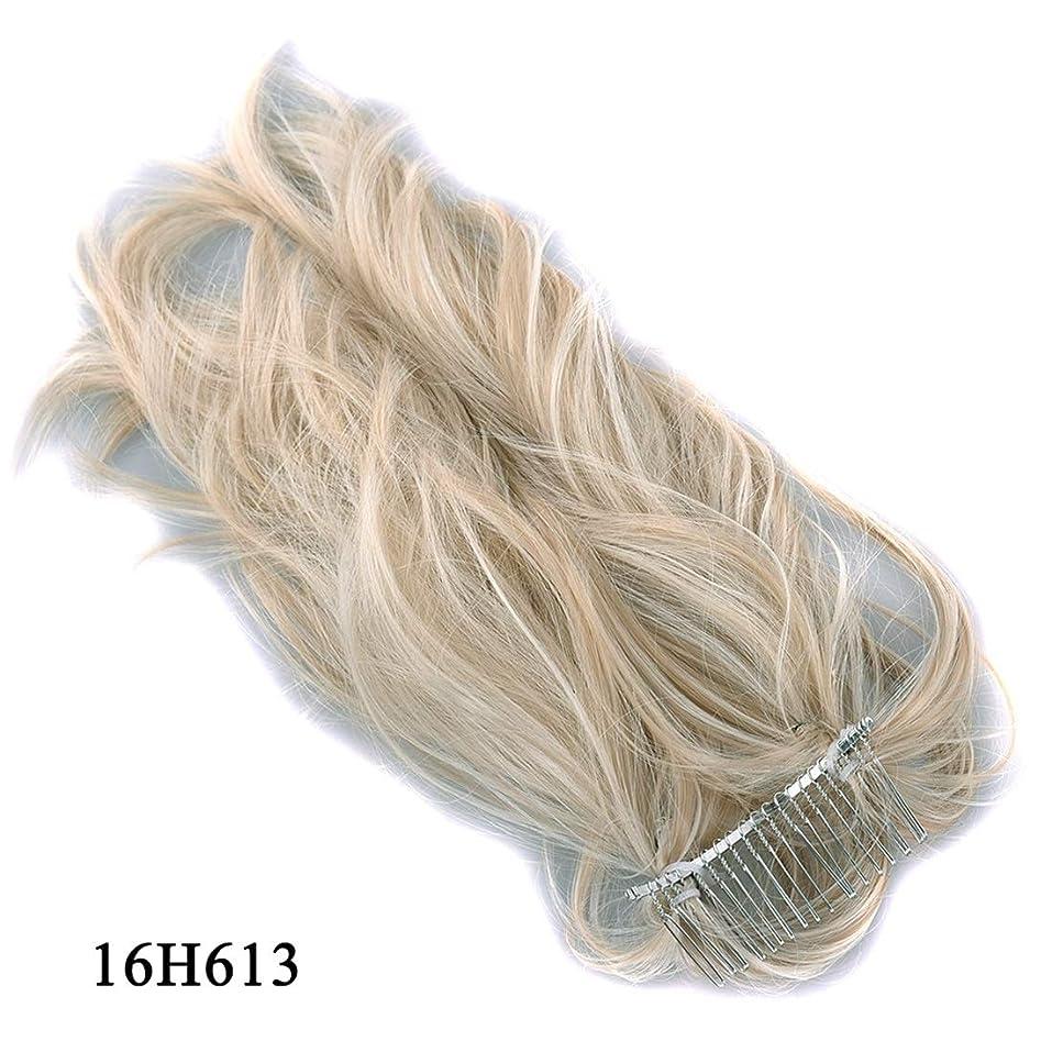 テレマコス法廷ペルソナJIANFU かつらヘアリング様々な柔軟なポニーテールメタルプラグコムポニーテール化学繊維ヘアエクステンションピース (Color : 16H613)