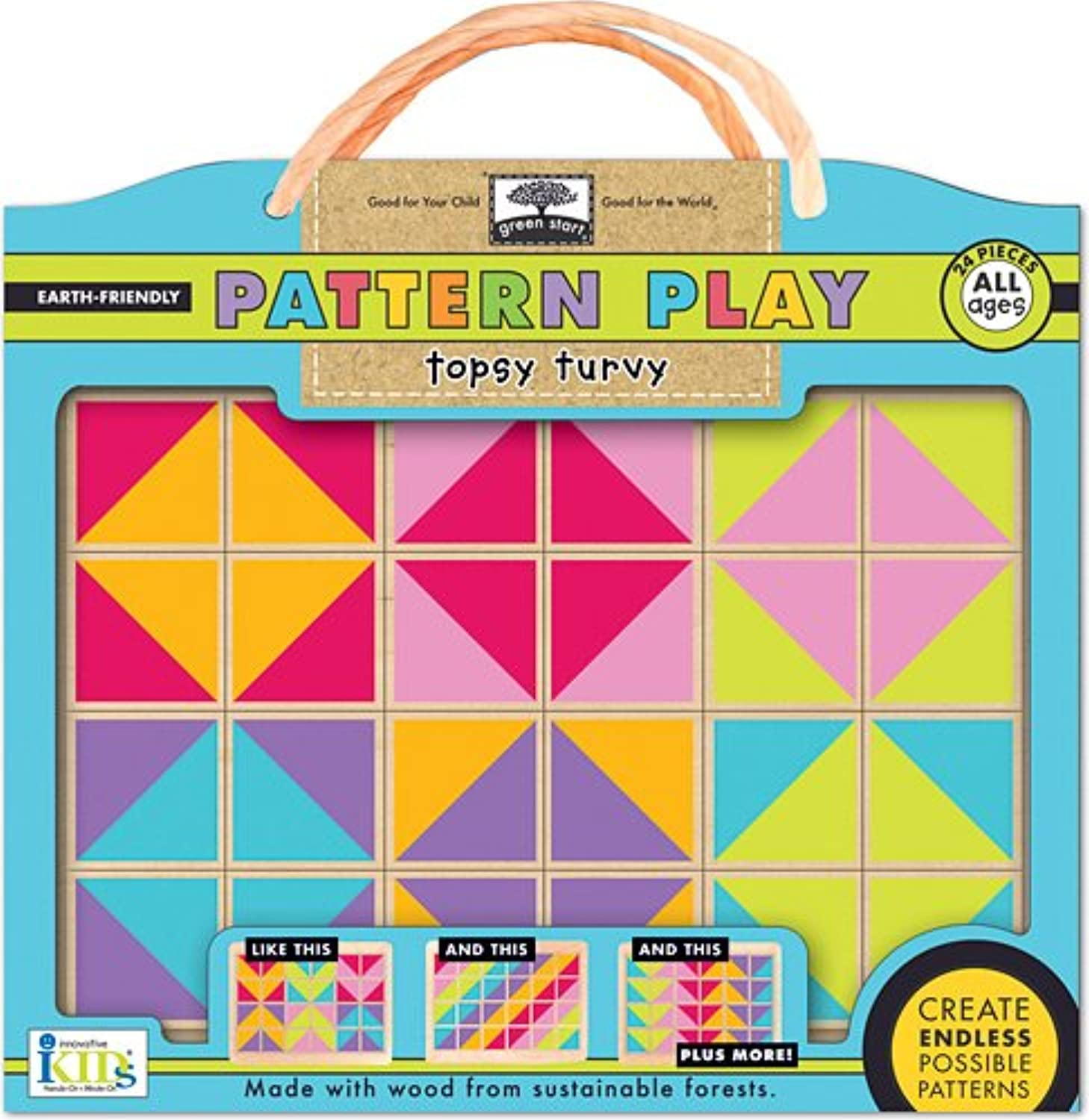 Innovative Kids Green Start Pattern Play Puzzles  Topsy Turvy Puzzle
