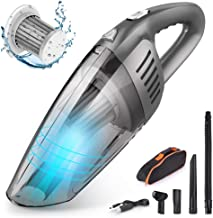 Car Vacuum, Amoebak 12V 120W 9500PA Cordless Rechargeable Wet Dry Hand Vacuum, Handheld Strong Suction Portable Vacuums Cleaner Auto Dust Buster for Car Keyboard Cleaning Kit, Black