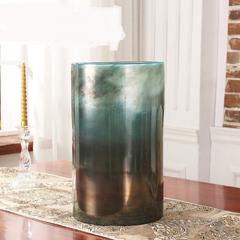 JYXJJKK Vase en Verre rétro,Salon séchées décoration Vase Fleur-B