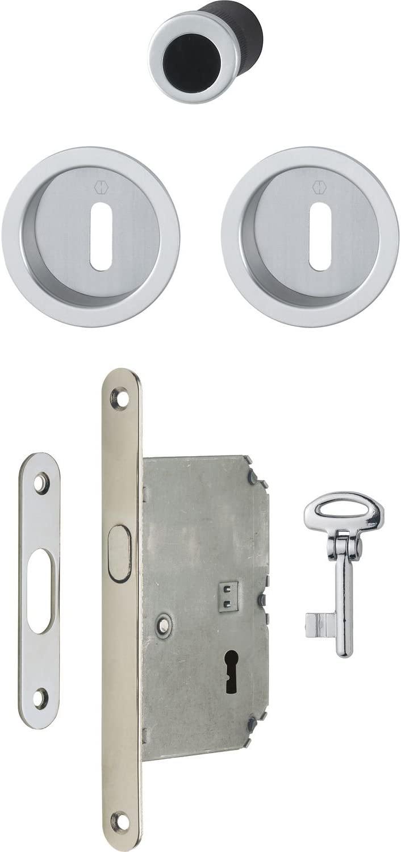 Hoppe 3947902 Sliding Sale item San Antonio Mall Door Shell Set with Lock Round R 4920