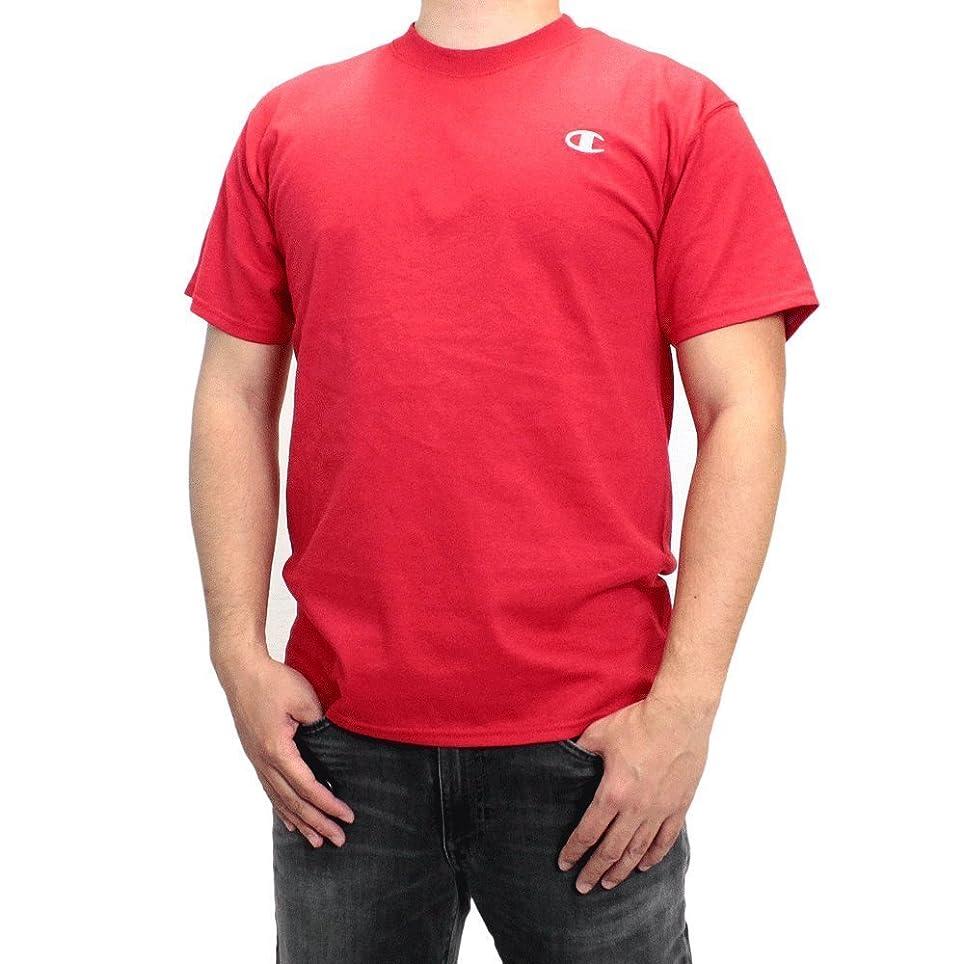 ギャロップホラー殺人者チャンピオン Tシャツ Champion (チャンピオン) メンズ 半袖Tシャツ コットン クルーネック シャツ 半袖 Tシャツ JERSEY TEE SHIRT レッド T2226