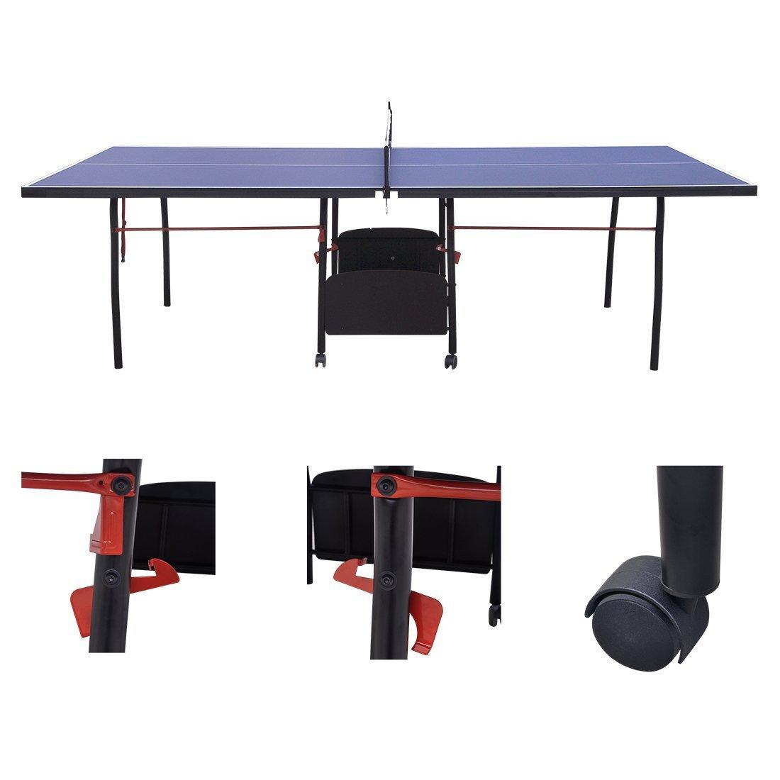 hlc Mesa de Ping Pong, Profesional Plegable y Movible con 9 Pies ...