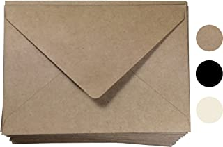 A7 Envelope Kraft Invitation Envelope 5x7 | A7 Size 100 Pcs, 5 1/4