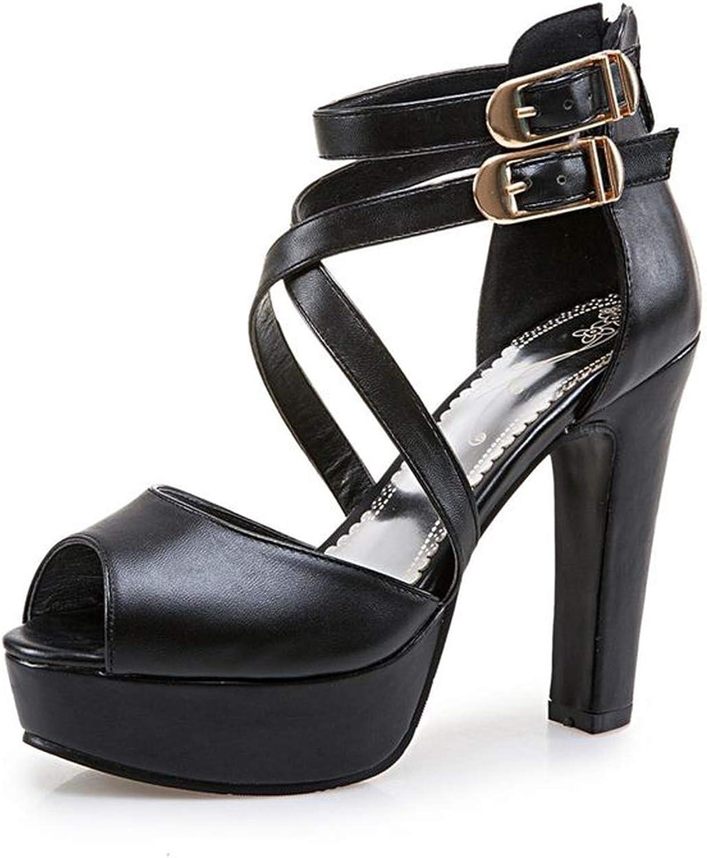 Plus Size 34-48 New Women Sandals Platform shoes Open Toe high Heels Open Toe Solid color Prom Wedding shoes
