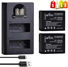 DMW-BLG10PP, Pickle Power (X2) 1280mAh 7.4V Battery Pack and Rapid Smart LED Dual USB Charger Replacement for Panasonic Lumix DMW-BLG10, DMW-BLG10E, DMW-BLE9 and DMC-GF3, DMC-GF5 More Other Cameras.