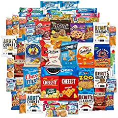 Variety Fun Care Packages Include A Bulk Assortment Of 50 Individually Wrapped Single Serve Snacks Our Snack Bundles Make Great Gifts For College Students, Kids, Families & Military Abroad Perfect For Home & Office Snacking All Snacks Are Carefully H...