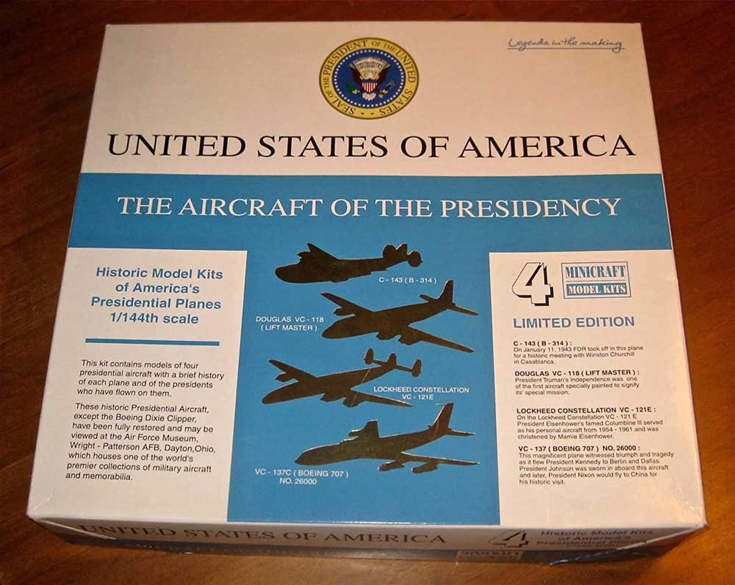 Minicraft 1 144 - Aircraft of the Presidency Set - MCR14486