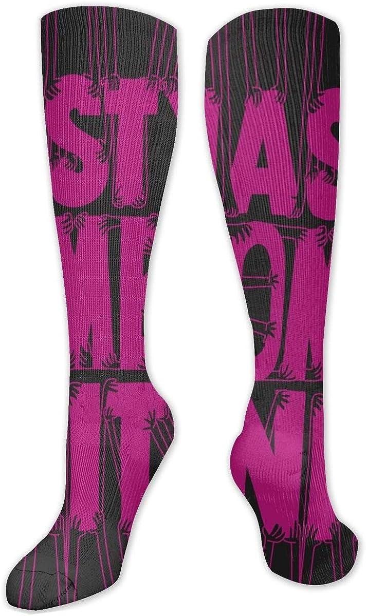 Nasty Women Unite Knee High Socks Leg Warmer Dresses Long Boot Stockings For Womens Cosplay Daily Wear