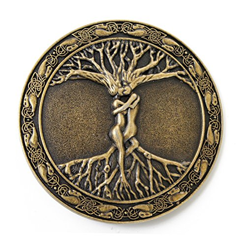 Aeon hum Celtic Tree Of Life Roots Branches Round Belt Buckle For Mens