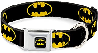 Collar Seatbelt Buckle Batman Shield