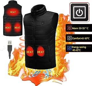 Gilet /Électrique pour Enfants Manteau L/éger Gilet Chauffant D/étachable Taille Ajustable Chargement USB Gilet Chauffant Chauffant pour Le Camping en Plein Air Randonn/ée Batterie Non Incluse