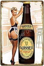 shovv My Guinness Plaque Carteles de Chapa de Metal Vintage Bar Pub Platos Decorativos Etiqueta de la Pared Cartel de Hierro Corona Cartel de Publicidad de Cerveza
