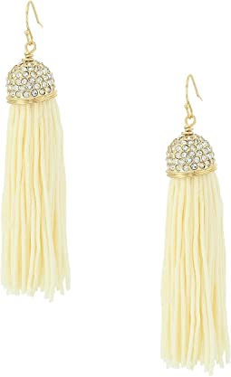 Midnight Tassel Earrings