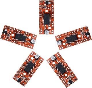 Diymore 5pcs V44 A3967 EasyDriver Shield 7V-30V Stepper Motor Driver for Arduino EK1204 Support 4/6/8 Wires Stepper