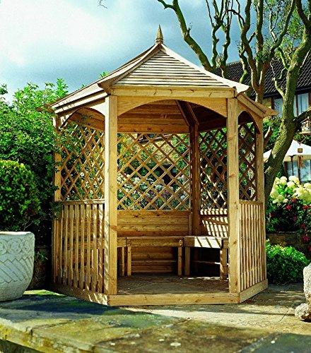 Kiosque Ravel hexagonal en bois moyen
