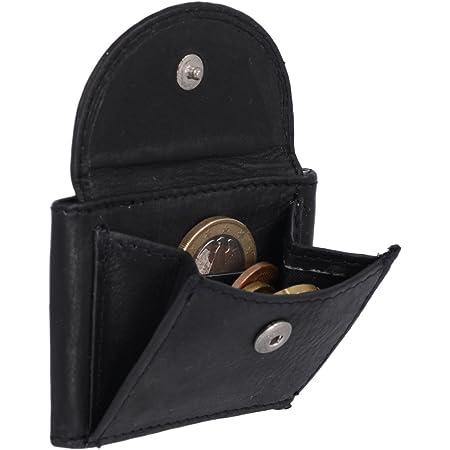 LEAS Extra kleine Minibörse Echt-Leder, schwarz Mini-Edition