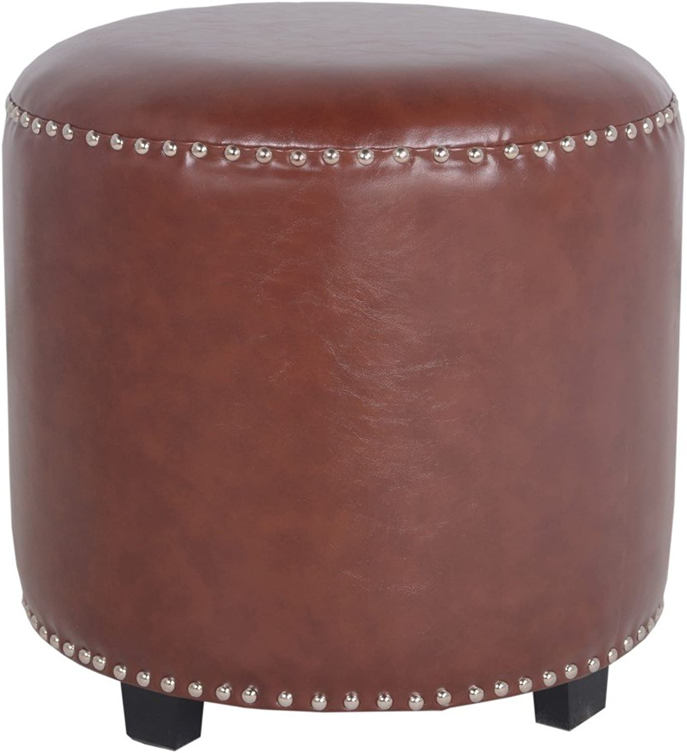 Porthos Home CH042B BRN Georgia Leatherette Side Stool Brown