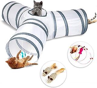 Katt tunnel leksak 3 sätt, kaninleksaker hopfällbar tub leksak tunnel för katter kaniner, hundar, husdjur, inomhus- och ut...