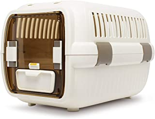 LAZY BUDDY Cat Carrier, Cat Kennel with Food and Water Bowl for Cats, Dogs, and Other Pets.