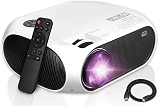 Mini Projector, Zerosky Portable Video Projector 1080P Full HD Display TV Movie LED Projector with HDMI VGA AV USB Ports, ...