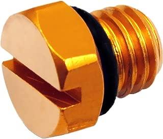iFJF Billet Aluminum Air Bleeder Screw Replacement for GM 2001-2017 Duramax Diesel Fuel Filter(Gold)