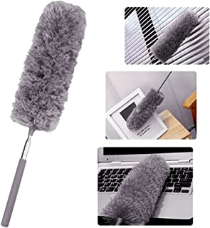 Broadroot Brocha de Microfibra Extensible Ajustable Cepillo de Polvo para el hogar Gris