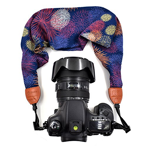 LIFEMATE Scarf Camera Strap,DSLR Camera Strap Universal Neck Strap,Fabric of Bohemia Floral Scarf Camera Strap (Colorful)
