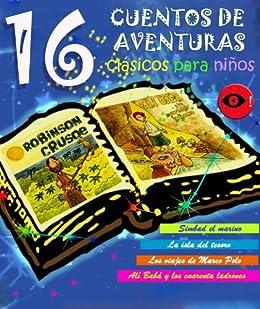 16 cuentos de aventuras clásicos para niños eBook: Twain, Mark ...