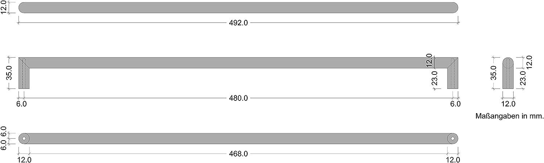 1 St/ück Relinggriff /Ø 12 mm Schubladengriff f/ür Schrankt/üren /& K/üche Gedotec M/öbelgriff schwarz Schrankgriff 96 mm Stangengriff Edelstahl Leila Black K/üchengriff Vintage mit Schrauben