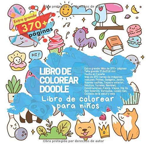 Libro de colorear Doodle - Más de 370 temas de imágenes incluyen:...