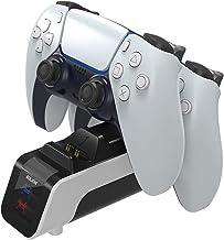 JINQII Base de carregamento inteligente dupla para carregamento rápido PS5, base de carregador de gamepad para PS5, acessó...