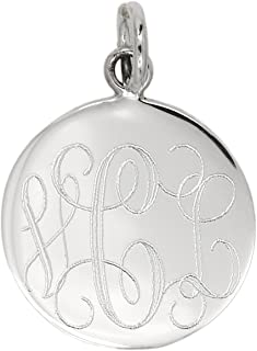 Rembrandt Charms Engravable Sterling Silver 1//2 mm Thick Classic Round Disc Charm 14.5 x 14.5 mm