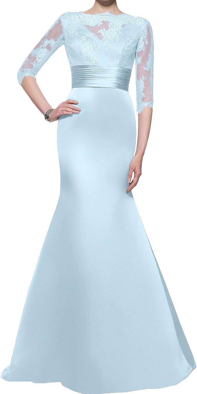 DressyMe Women's Mermaid Evening Dresses Elegant Floral Lace 1 2 Sleeves