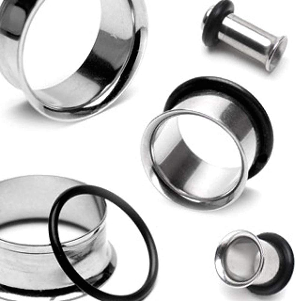 Covet Jewelry Single Flared Flesh Tunnels 316L Surgical Stainless Steel