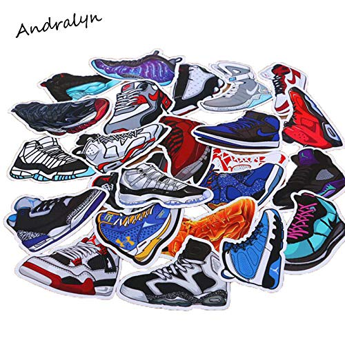 YRBB Graffiti Stickers 100 Stks/Pack Gemengde Cartoon Jordan Sneaker Stickers Voor Notebook Bike Bagage Box Aj Schoenen Getij Merk Graffiti Waterdichte Stickers