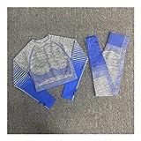 Linyuex Yoga Ropa sin Fisuras Mujeres Yoga Set Top de Manga Larga de Talle Alto Sport Gym Polainas Ropa Sport Traje Corto Juego de Gimnasia Conjuntos de Aptitud for Las Mujeres