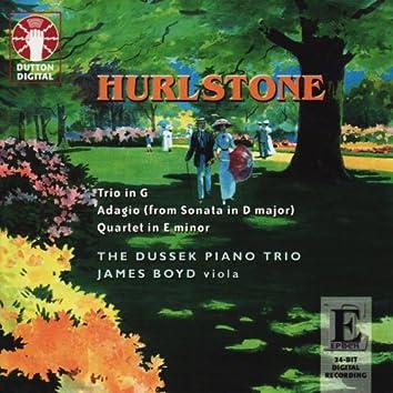 Yeates Hurlstone: Trio in G & Quartet in E Minor