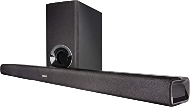 Denon DHT-S316 Home Theater Soundbar System with Wireless Subwoofer | Virtual Surround Sound Technology | Wall-Mountable | Bluetooth Compatibility | Smart & Slim-Profile | Black