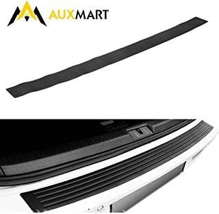 AUXMART Rear Bumper Protector Guard Rubber Scratch-Resistant Trunk Door Entry Edge Guards Accessory Trim Cover for SUV/Cars, Black