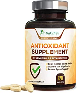 Super Antioxidants Supplement Tablets, Powerful Antioxidant Formula with Vitamins A, C, E, Selenium, Made i...
