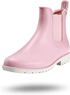 Petrass Women Chelsea Ankle Rain Boots Waterproof Short Boots