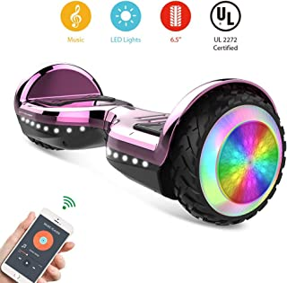 CITY CRUISER Hoverboard with Bluetooth Speaker, LED Light by UL 2272 Certified Best Gift for Kids Pink (Renewed)