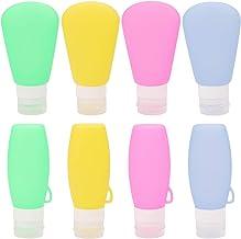 3oz / 90ml Refillable Travel Bottles Set Squeezable Silicon Tubes Leak Proof Travel Accessories for Shampoo Liquids - Set ...
