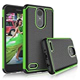 Tekcoo Case for LG Aristo 2 / LG Phoenix 4 / LG Tribute Dynasty/Empire/Aristo 3/K8 2018/Fortune 2/Zone 4, [Tmajor] Shock Absorbing [Green] Rubber Silicone Plastic Scratch Resistant Sturdy Cover