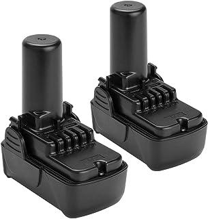 Shentec 2-Pack 10.8V-12V 2.5Ah Li-ion BCL1015 Battery Compatible with Hitachi BCL1015 BCL1015S 331065