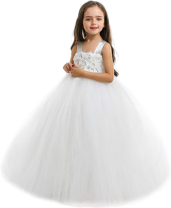 IvorySilver Flower Girl Tutu Dress-IvorySilver Tutu Dress-IvorySilver Flower Girl Tutu Dress-Wedding Tutu Dress.
