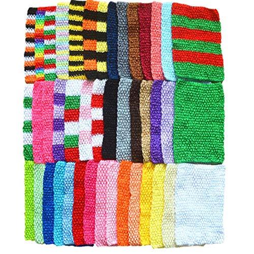Pukido 43 Colors 9 inch 20X23cm Baby Children Tutu Tube Skirt Crochet Fabric Elastic Tops Chest Wrap Tulle Skirts Fabric EL17 - (Size: 20cm x 23cm)