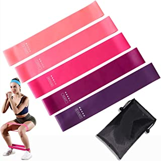 Resistance Loops Exercise Bands for Legs and Hips,Set of 5