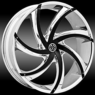 Massiv 920 Turbino 20x8.5 Chrome with Black Inserts Wheel / 5-114.3 5-120 mm Bolt Pattern / +38 mm Offset / 74.1 mm Hub Bore